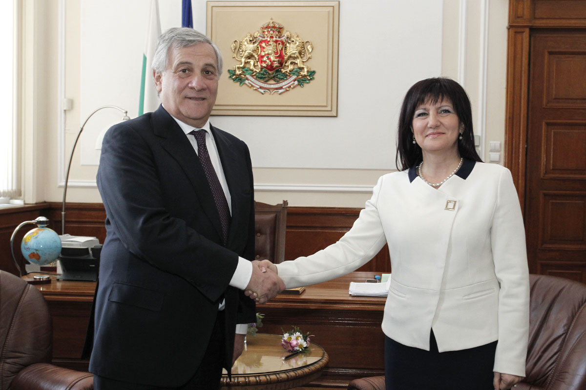 Speaker of Parliament Tsveta Karayancheva meets President of the European Parliament Antonio Tajani